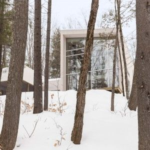 House in a Quebec Forest by Pierre Thibault