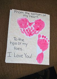 Hey @Amy Behrle do this with your day care kids for their parents! Isn't it cute?