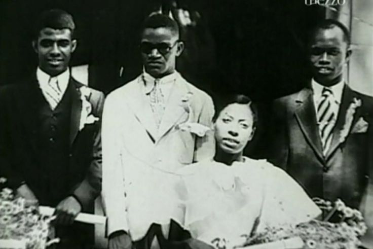 This photo has been used in several documentaries (this is a still from The Genius of Soul), but I don't know if it's authentic. If the woman is Aretha, Ray's mother, the picture is from circa 1944.