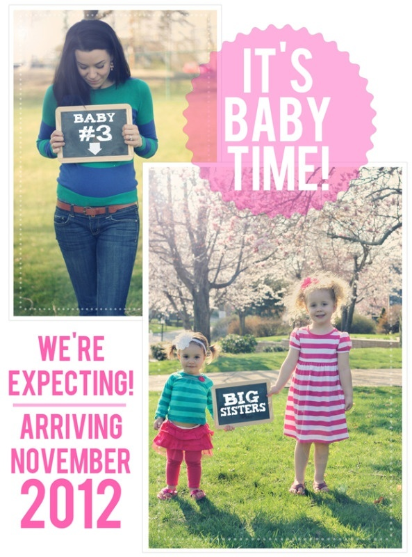 Our Were Expecting! Announcement.. using chalkboards. Baby #3 thebbm