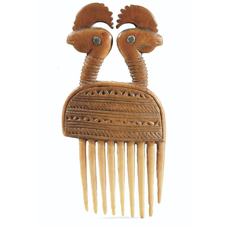 Africa | Comb from the Baule people of the Ivory Coast | Ivory