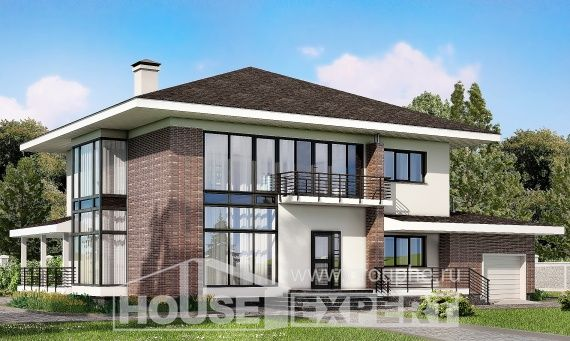 275-002-R Two Story House Plans with garage in front, modern Home Plans