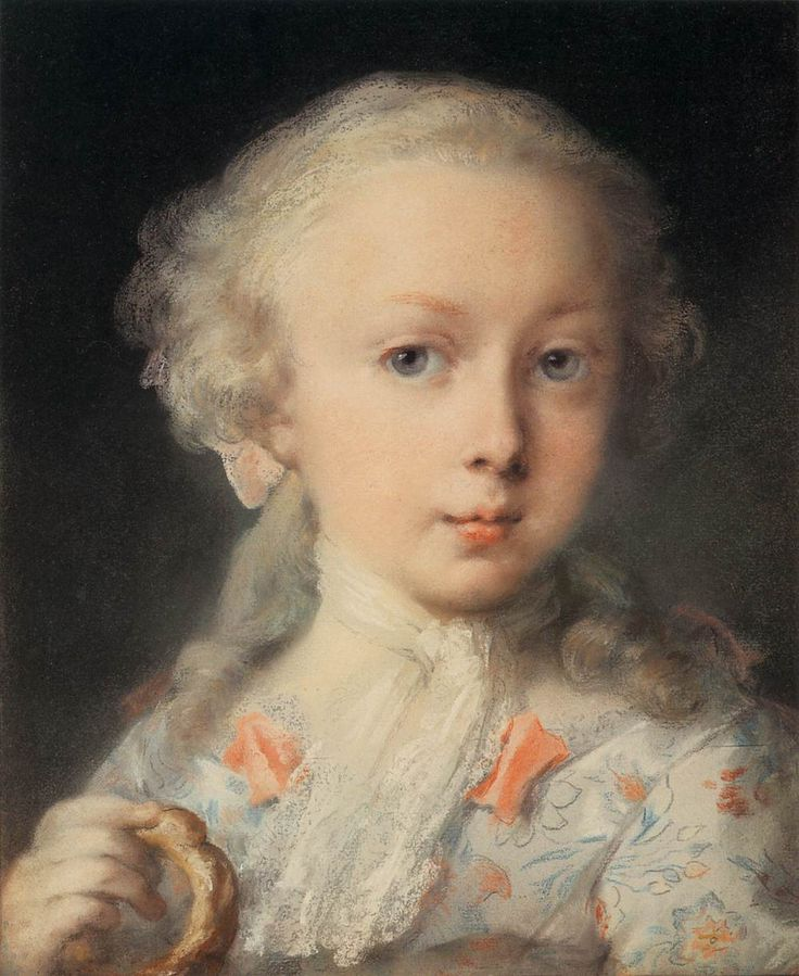 CARRIERA, Rosalba Young Lady of the Le Blond Family c. 1730