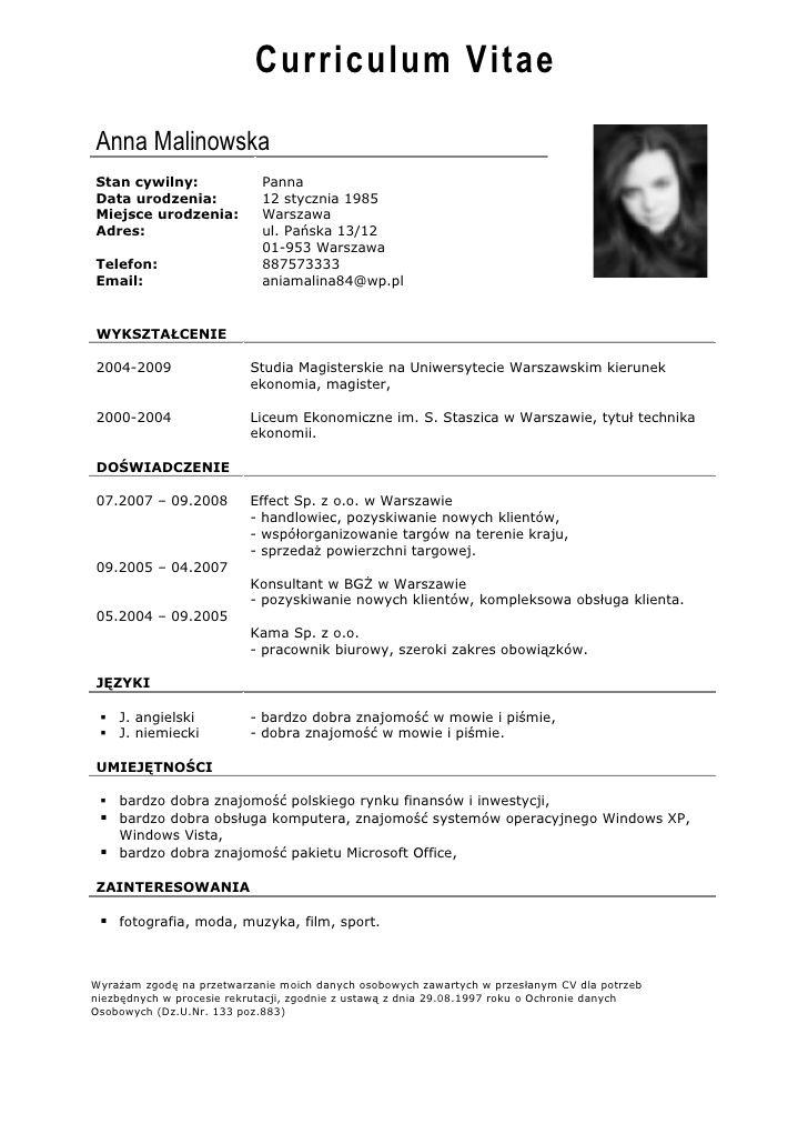 Pin On Modelo De Curriculum Vitae