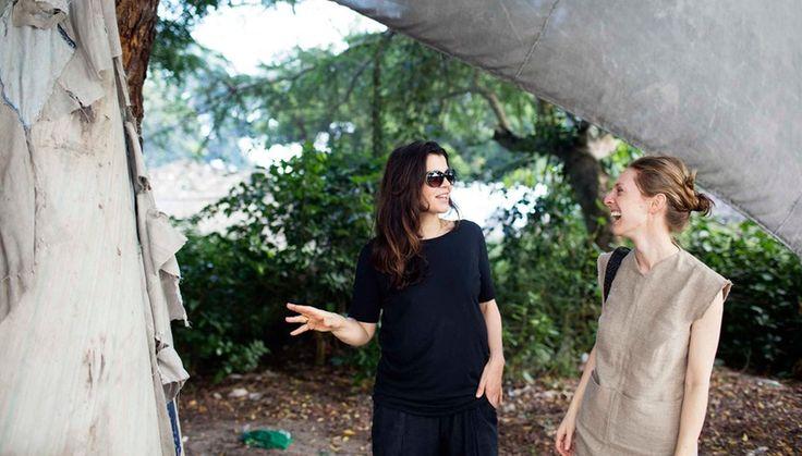 Ali Hewson and Danielle Sherman of Edun