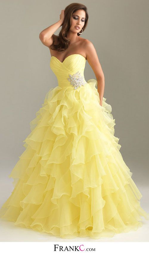 yellow prom dress,mermaid prom dress. I HATE the color yellow but the style of the dress is gorgeous