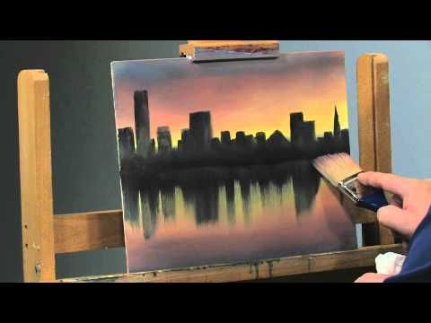 This is a stunning skyline. Duplicate the technique with any skyline or beachfront property. | YouTube