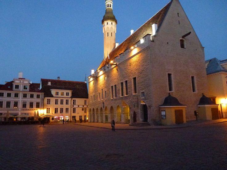 Tallinn - Aurora Borealis in Raekoja Square