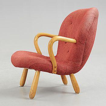 "PHILIP ARCTANDER, tillskriven, fåtölj, ""Clam Chair"" / ""Muslinge"", 1940/50-tal. - Bukowskis"