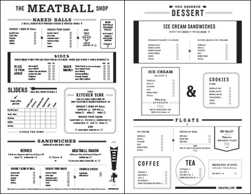 NYC - The Meatball Shop Menu