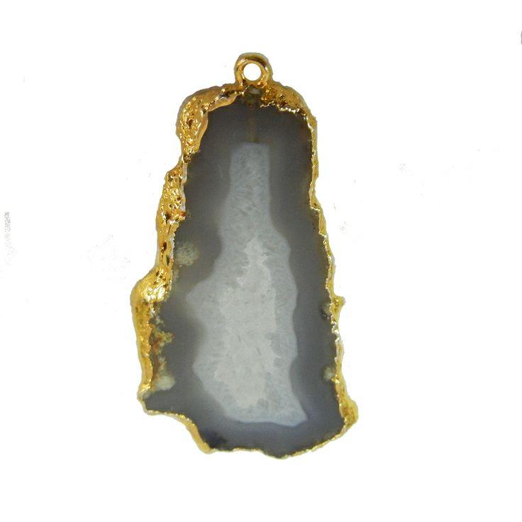 Grey Druzy Geode Pendant. WWW.INDIANGEMSTONEEXPORTERS.COM WWW.MANUFACTURERFINESILVERJEWELRY.COM