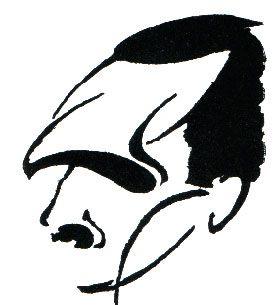 . Nikos Kazantzakis. Sketch by Takis Kalmouchos. 1925.