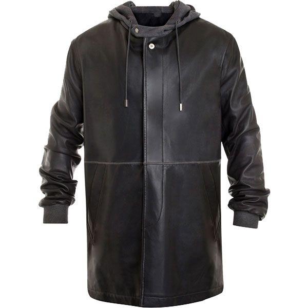 Leiden Leather Parka Coat For Men Leather Jackets USA