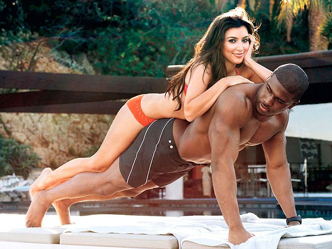 Kim Kardashian and Reggie Bush for GQ 2009