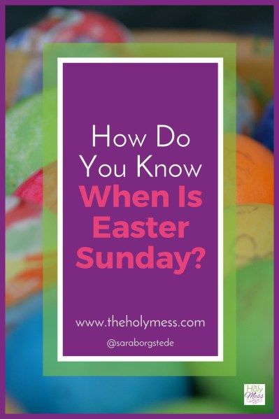 The date for Easter changes every year. How do you know when is Easter Sunday? Includes a handy list of the dates for Easter Sunday through 2040! Pin for reference. How Do You Know When is Easter Sunday?|The Holy Mess