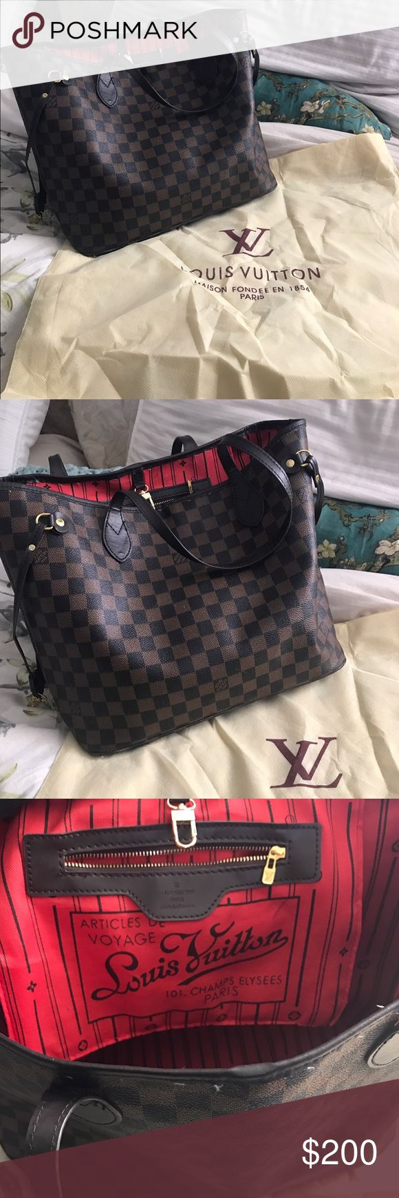 Beautiful LV Brown Purse Medium sized bag used a few times but so cute and good condition. Its beautiful and is so great for everyday use. The price reflects authenticity. Dont ask. ( will trade) great replica Louis Vuitton purse. Bags