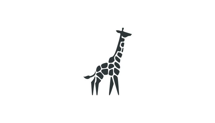 Stunning graphics from an ongoing series of negative space animal logos created…