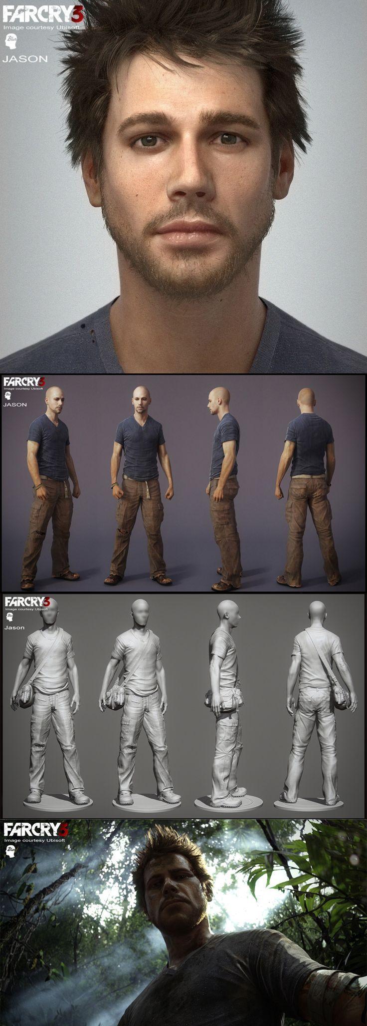 Far Cry 3 Character Modelling using ZBrush. join us http://pinterest.com/koztar/