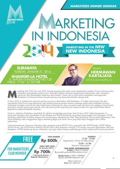 Seminar Marketing In Indonesia 2014