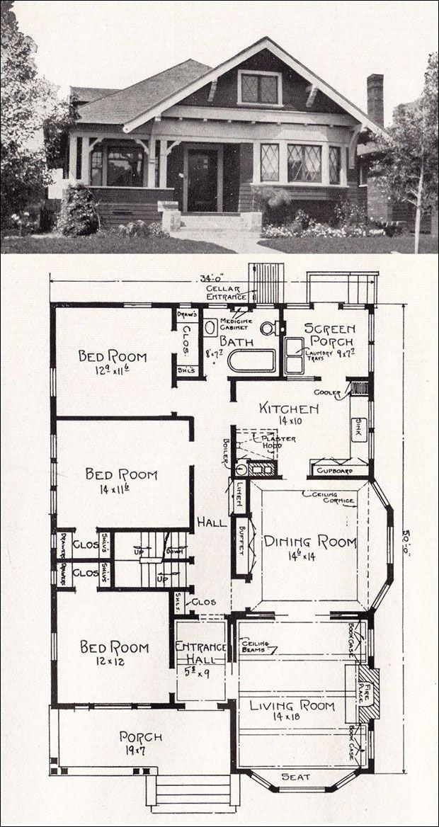 17 best ideas about bungalow floor plans on pinterest retirement house plans bungalow house plans and bungalow cottage house plans - Bungalow Floor Plans