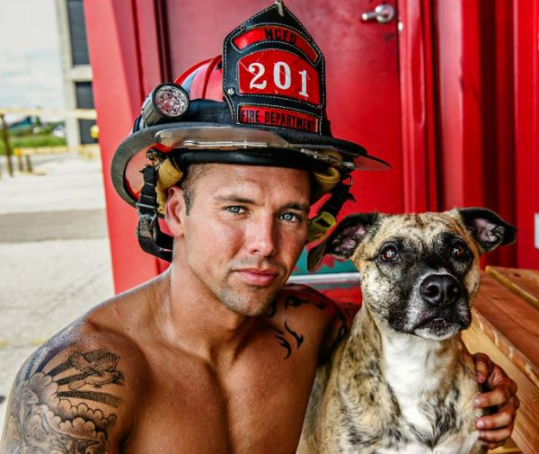 Hot Firefighters Strip Down To Save Rescue Pups - BarkPost
