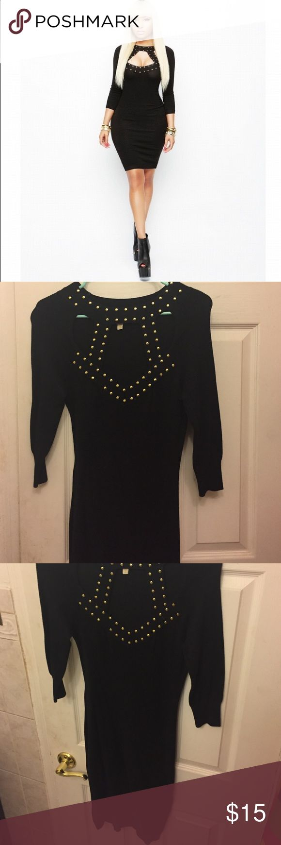 Nicki Minaj black sweater dress Gently worn cagged black nicki Minaj sweater midi dress. Super sexy ! Great for New Years!! Nicki Minaji  Dresses Midi