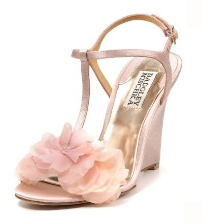 Badgley Mischka Blush Wedges See Our Post On Cute Wedding Flats And For Grass