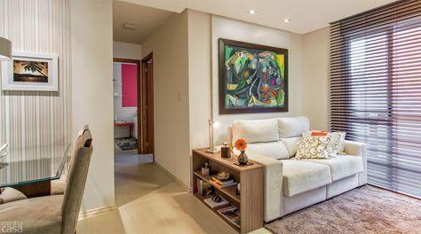 50 salas pequenas e cheias de estilo - Casa mesa lateral