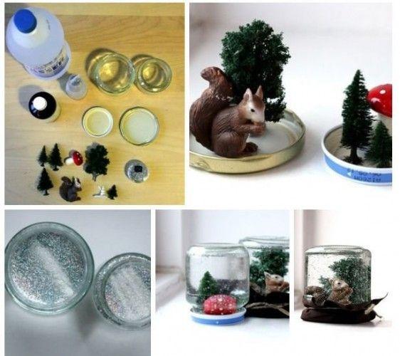 Идеи к Новому Году. Стеклянная банка со снегом / Изделия ручной работы / InDesiO - сообщество творческих людей