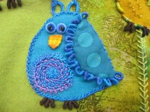 Sue Spargo, love this little bluebird!