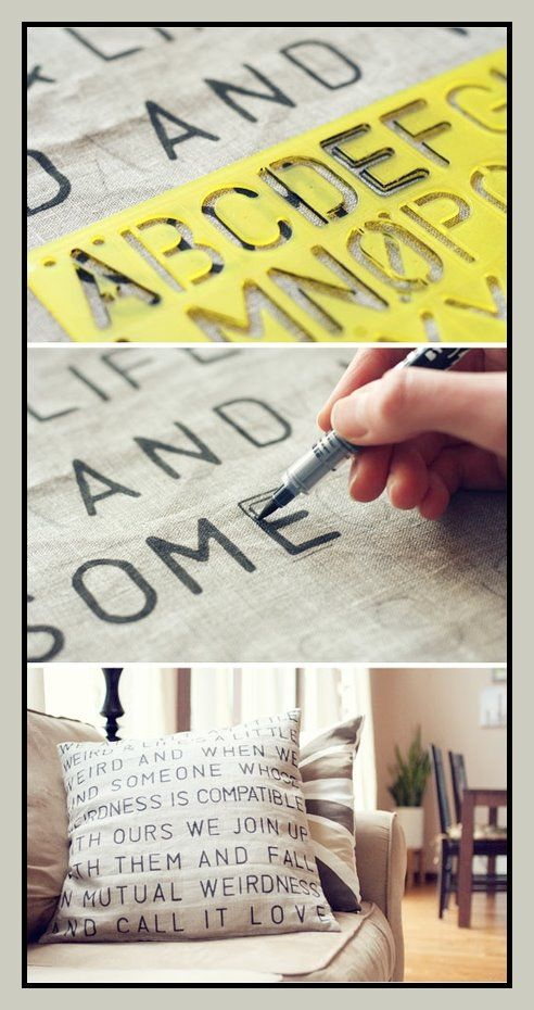 DIY Topography Pillows with Tutorial | Content in a Cottage
