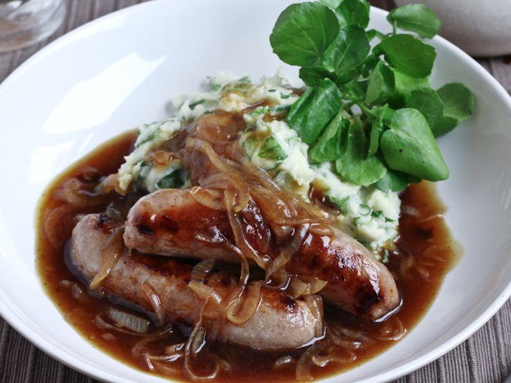 Sausage and watercress mash 2