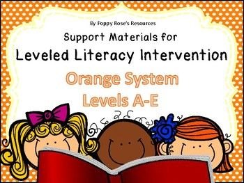 This packet was designed to coordinate with the Fountas and Pinnell Leveled Literacy Intervention (LLI): Orange System Levels A-E. This bundle contains 26 suggested Letter and Word Activities for Magnetic letters with Magnetic mat to attach to a cookie sheet, as well as letter Bingo.