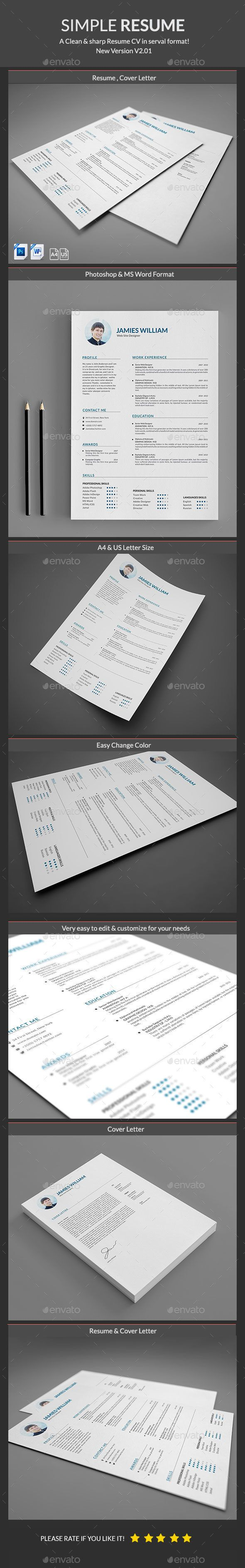 34 Best Clean Resume Designs Images On Pinterest Resume Ideas