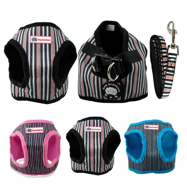 Type: DogsBrand Name: PET ARTISTMaterial: NylonFeature: PaddedSeason: Spring/SummerCollar Type: Basic CollarsPattern: SolidFeature: harness and leash setColor: Black/Pink/BlueFit for: Small PuppyBearing weight: 15-7.5kgChest size: 34-53cmLeash: 1.5*120 cmType: Dog harness leash set