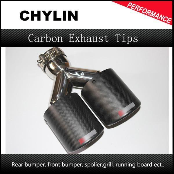Stainless Steel 63mm 89mm Car Exhaust Tip Carbon Fiber Exhaust Muffler Dual Tips