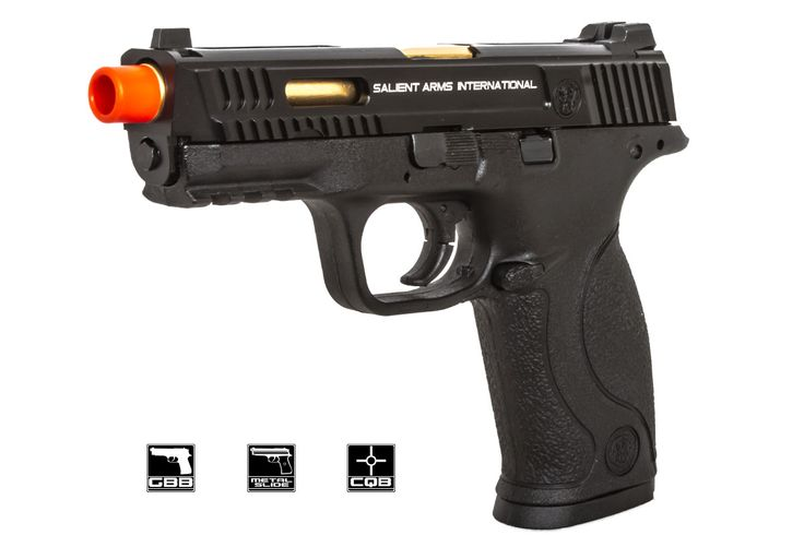 Salient Arms / Smith & Wesson M&P 9 Pistol GBB Airsoft Gun ( Black )