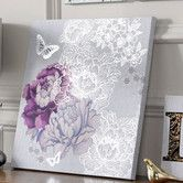Found it at AllModern - Floral Metallic Graphic Art on Canvas