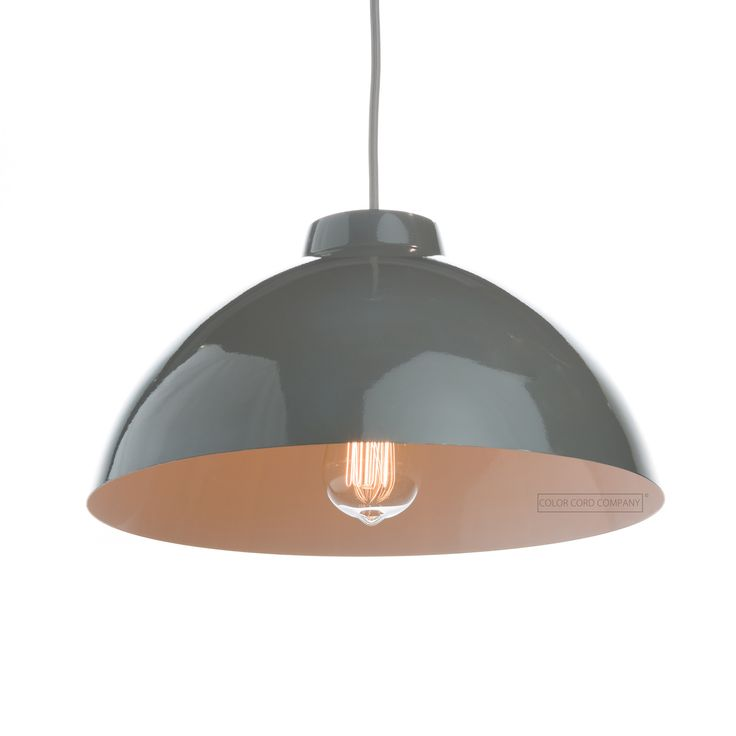 12 best pendant light shades metal images on pinterest light metal dome shade gray mozeypictures Image collections