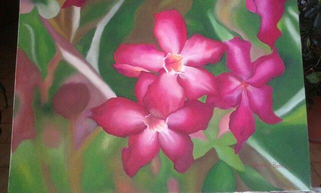 Flores Alegría del Hogar- Óleo