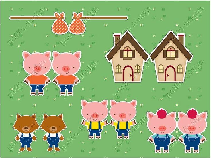 Toppers Digital os Tres Porquinhos