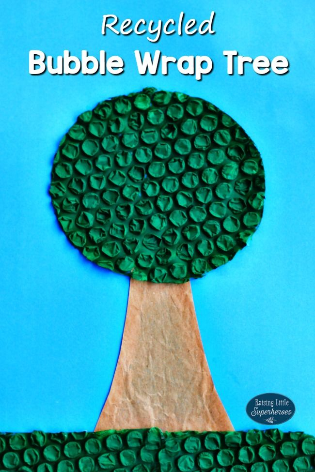 Making Crafts Out Of Recycled Materials Like This Bubble Wrap Tree Is A Fun Way