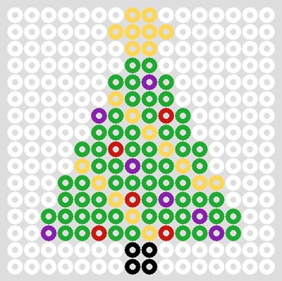 Assorted Christmas Hama Bead Designs & Patterns | BeadMerrily Hama Bead Designs