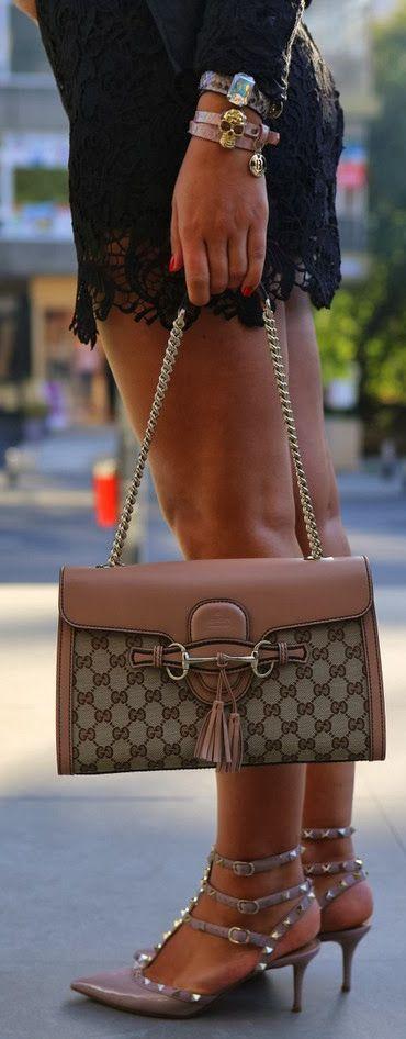 Gucci purse + Valentino heels♥✤ | KeepSmiling | BeStayClassy