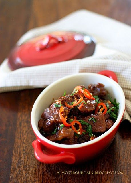 Almost Bourdain: Slow Braised Pork with Ginger, Chilli & Sweet Soy Sauce