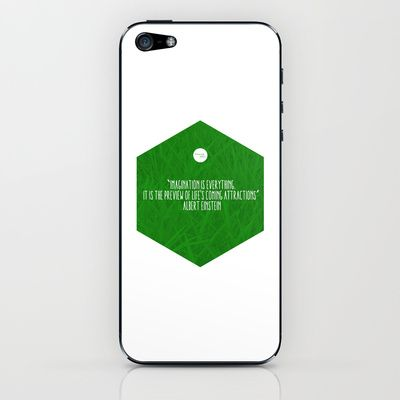 Imagination Is Everything iPhone & iPod Skin by Growing Ideas - $15.00