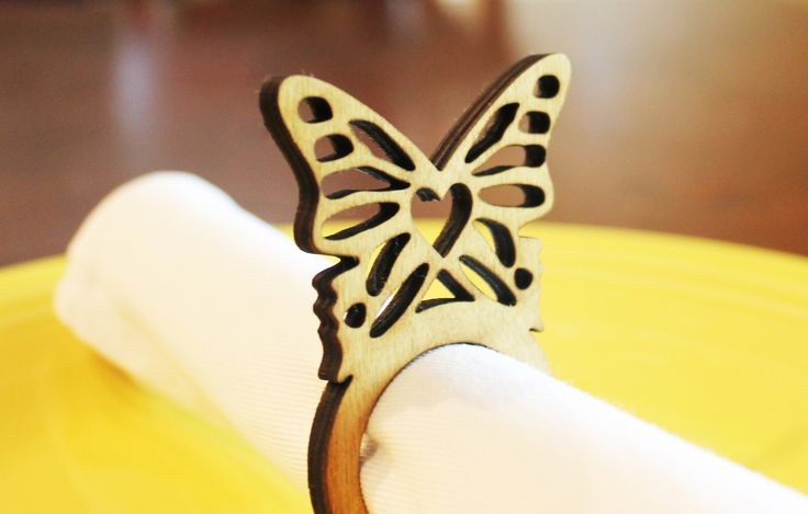 Butterfly Wood Napkin Rings