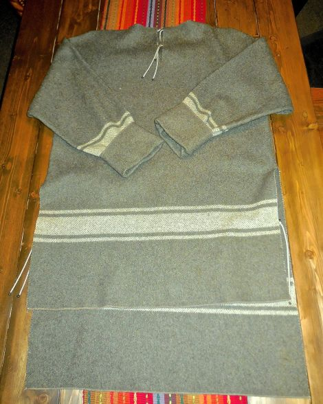 100% Wool Blanket = Awesome Hunting Shirt   Survival Sherpa
