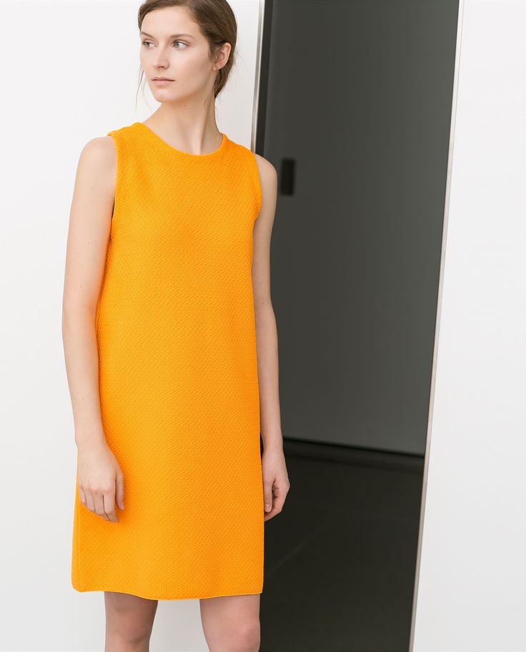 Image 2 of STRAIGHT CUT DRESS WITH SIDE ZIP from Zara