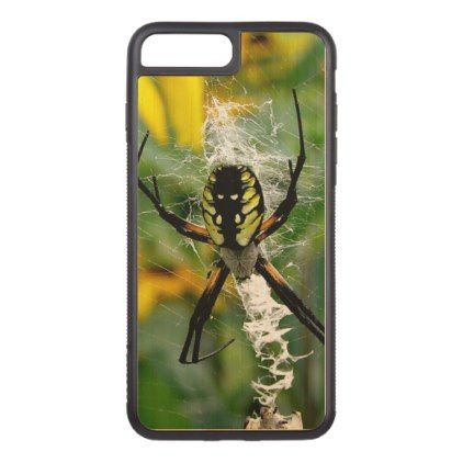 Awesome Photo Orb Spider in Web Carved iPhone 8 Plus/7 Plus Case - photo gifts cyo photos personalize